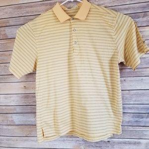 Fairway & Greene Golf Shirt L Yellow stripe